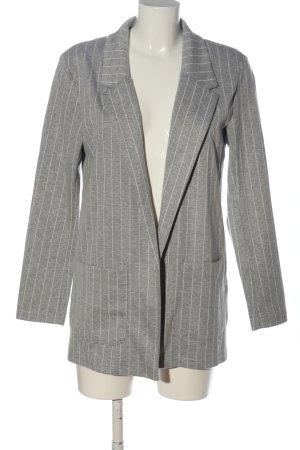 Jean Pascale Blazer in maglia grigio chiaro-bianco motivo a righe