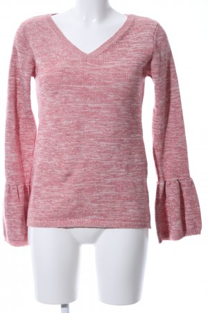 Jean Pascale Strickpullover pink meliert Casual-Look