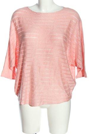 Jean Pascale Strickshirt pink Streifenmuster Casual-Look