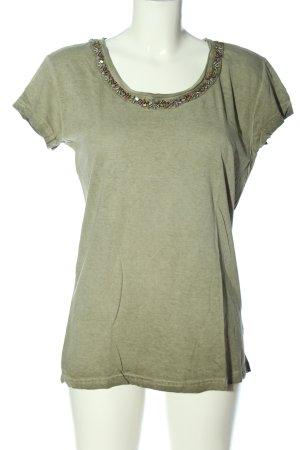 Jean Pascale T-Shirt khaki meliert Casual-Look
