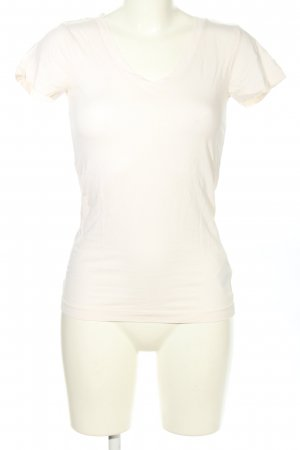 Jean Pascale V-Neck Shirt natural white casual look