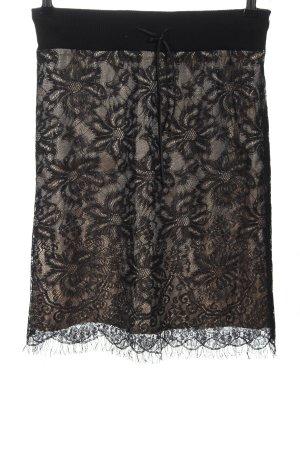 Jean Paul Berlin Falda de encaje negro-marrón look casual