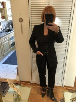 Jean Paul Gaultier Tailleur-pantalon noir tissu mixte