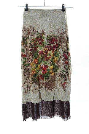 Jean Paul Gaultier Gonna a campana motivo floreale stile stravagante