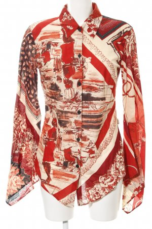 Jean Paul Gaultier Hemd-Bluse abstraktes Muster Casual-Look
