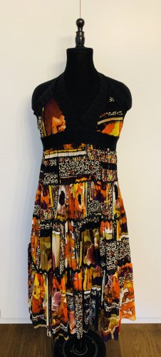 Jean Paul Gaultier Vestido de cuello Halter multicolor poliamida