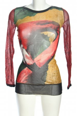 Jean Paul Gaultier Camisa de malla multicolor look casual
