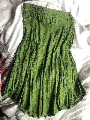 Jean Paul Gaultier Silk Skirt forest green-green viscose