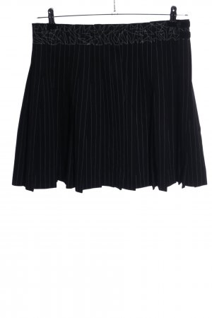 Jean Paul Gaultier Gonna aderente nero-bianco sporco motivo a righe stile casual
