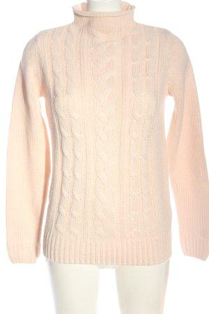 Jean Paul Warkoczowy sweter kremowy Warkoczowy wzór W stylu casual