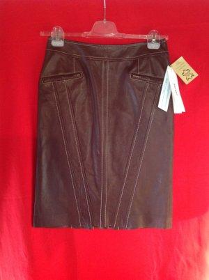 Jean Paul Berlin Leather Skirt brown leather
