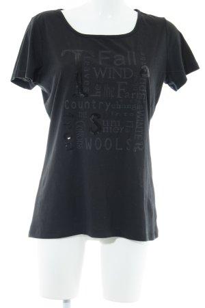 Jean Paul T-Shirt taupe Schriftzug gedruckt Casual-Look