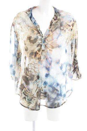 Jean Paul Transparenz-Bluse abstraktes Muster Transparenz-Optik