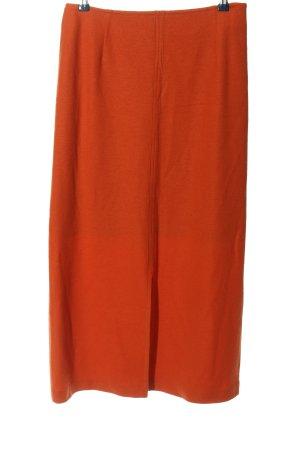 Jean Paul Falda de lana naranja claro look casual