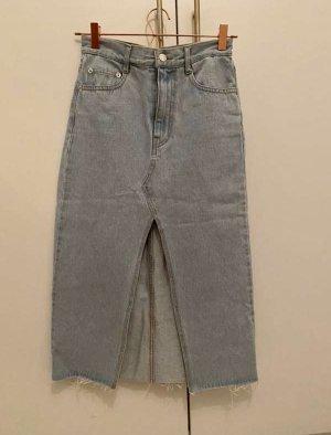 Pull & Bear Denim Skirt azure
