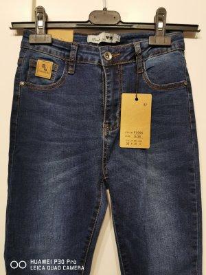 & DENIM Stretch Trousers dark blue