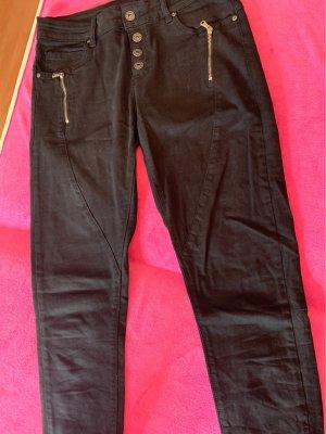 0039 Italy Tube jeans zwart Katoen