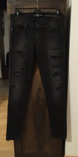 7 For All Mankind Hoge taille jeans zwart-antraciet