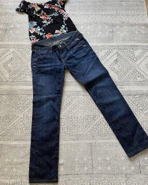 Replay Jeansy z prostymi nogawkami ciemnoniebieski-niebieski