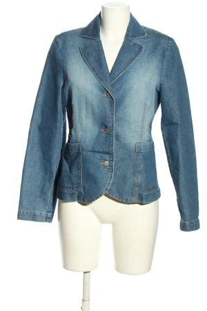 JEANAGERS Blazer en jean bleu style décontracté