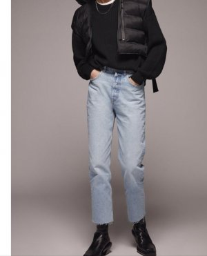 Zara Pantalone cinque tasche azzurro