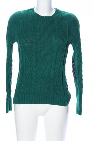 Jeanne Pierre Cable Sweater green cable stitch casual look