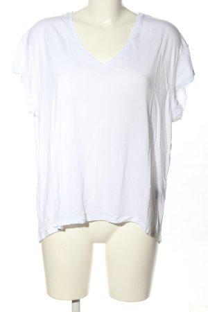 """Jeanne Vouland V-Ausschnitt-Shirt """"Jeanne Vouland // """"Tee-shirt Bach Lyocell Blanc"""""""""""