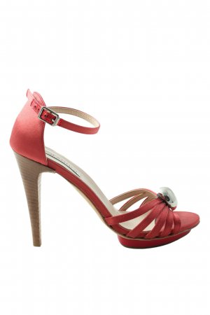 Jeannot High Heel Sandaletten rot Casual-Look