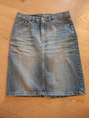 Freesoul Jupe en jeans gris ardoise
