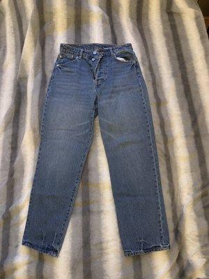 H&M Jeansy z prostymi nogawkami stalowy niebieski