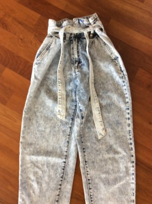 Workowate jeansy chabrowy Bawełna