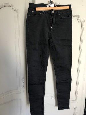 Acne Studios Dopasowane jeansy czarny