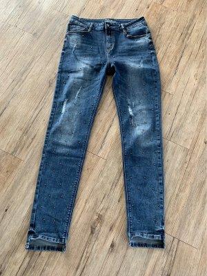Zabaione Jeans a sigaretta blu acciaio
