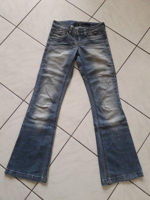 Only Jeans flare bleu azur