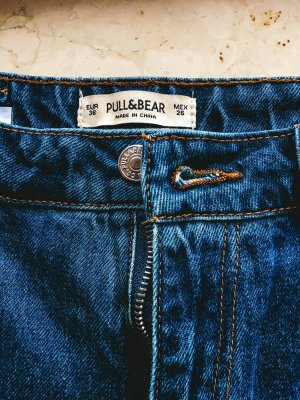 Pull & Bear 3/4 Length Jeans blue