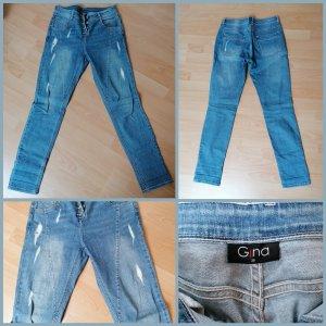 Gina Boyfriend Trousers light blue