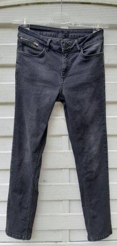 1.2.3 Paris Dopasowane jeansy czarny-antracyt