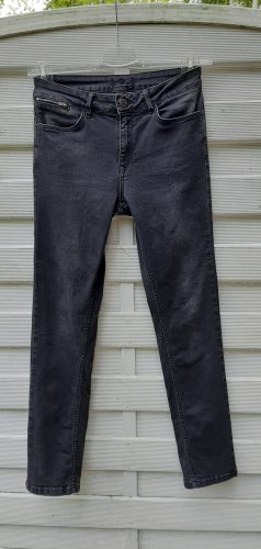 1.2.3 Paris 7/8 Length Jeans black-anthracite