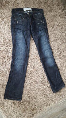 Freeman t. porter Jeans taille basse bleu foncé coton