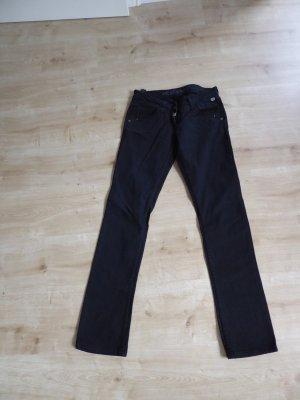 Timezone Jeans vita bassa nero Cotone