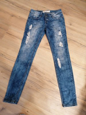 Rock Angel Denim Jeans vita bassa grigio ardesia-azzurro
