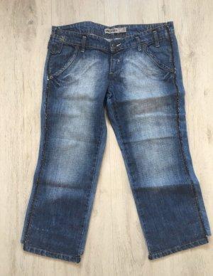Mango Jeansy 7/8 niebieski-stalowy niebieski