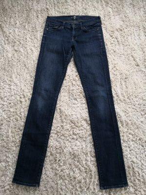 7 For All Mankind Jeans slim bleu foncé