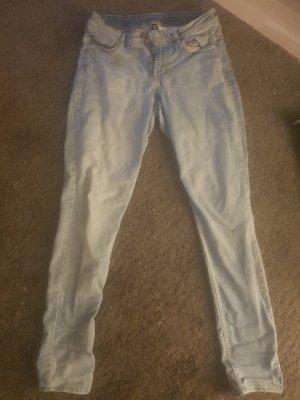 H&M Jeans cigarette bleu azur