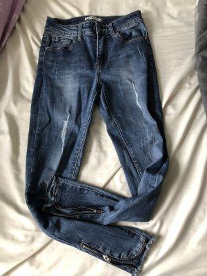 Lexxury Hoge taille jeans blauw