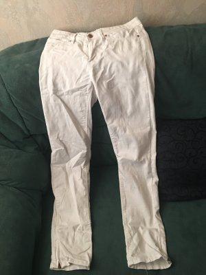 Janina Hoge taille broek wit