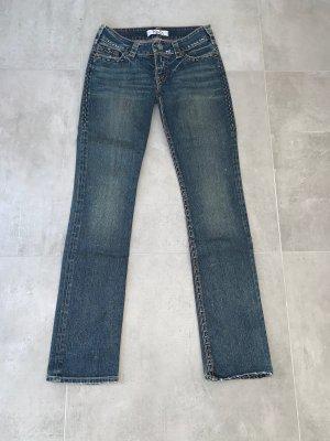 1921 Jeans a gamba dritta beige-blu