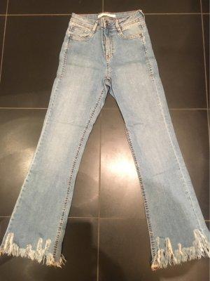 Zara 3/4 Length Jeans pale blue