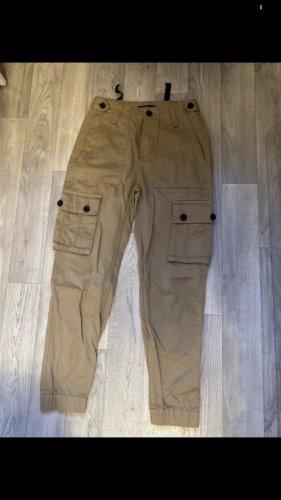 Bershka Baggy Jeans beige-black