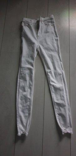 Stradivarius Hoge taille jeans wit